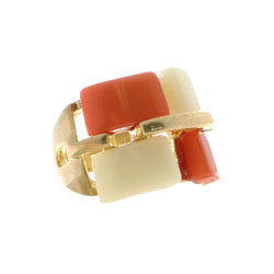 Mi Amore Sized-Ring Gold-Tone/Multicolor Size 5