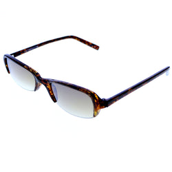 Liz Claiborne Semi-Rimless-Sunglasses Tortoise-Shell Frame/Brown Lens