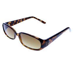 "Liz Claiborne Style ""Shari"" Rectangle-Sunglasses Tortoise-Shell Frame/Brown Lens"