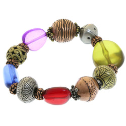 Mi Amore Stretch-Bracelet Bronze-Tone/Multicolor