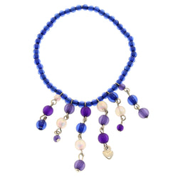 Mi Amore Stretch-Bracelet Blue/Purple