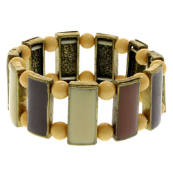 Mi Amore Antiqued Stretch-Bracelet Gold-Tone/Brown