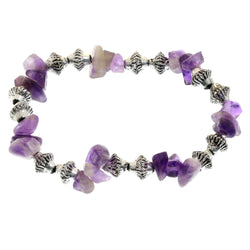 Mi Amore Stretch-Bracelet Silver-Tone/Purple