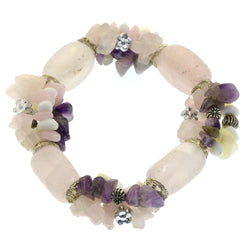 Mi Amore Stretch-Bracelet White/Purple