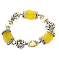 Mi Amore Stretch-Bracelet Silver-Tone/Yellow