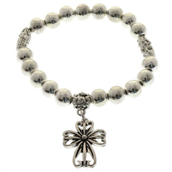 Mi Amore Cross Stretch-Bracelet Silver-Tone