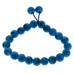 Mi Amore Stretch-Bracelet Blue/Black