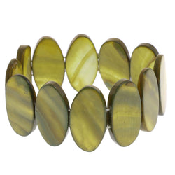 Mi Amore Stretch-Bracelet Yellow /Brown