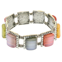 Mi Amore Bangle-Bracelet Silver-Tone/Multicolor