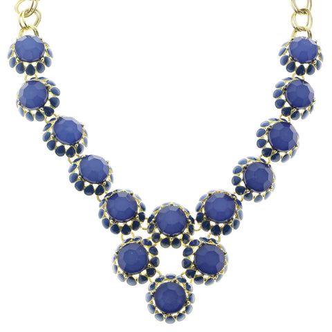 Mi Amore Necklace-Earring-Set Gold-Tone/Blue