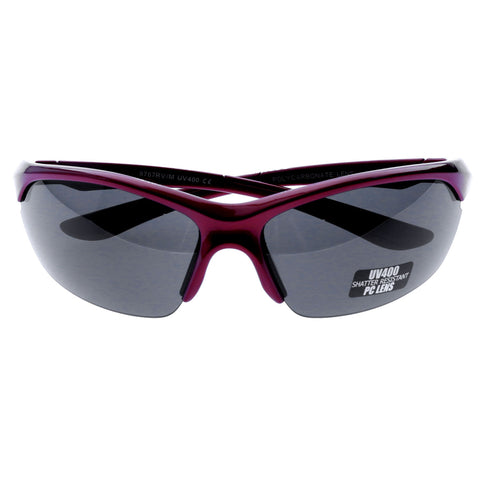 Mi Amore UV protection Shatter resistant Polycarbonate Semi-Rimless-Sunglasses Red & Black