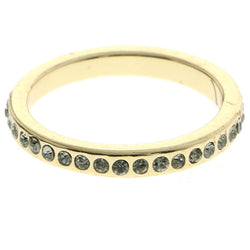 Mi Amore Crystal Sized-Ring Gold-Tone Size 7.00