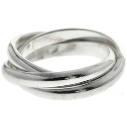Mi Amore Connected Twist Sized-Ring Silver-Tone Size 7.00