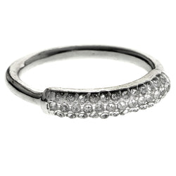 Mi Amore Crystal Sized-Ring Silver-Tone Size 10.00