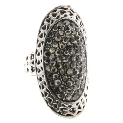 Mi Amore Sized-Ring Silver-Tone/Gray Size 7.00
