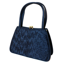 Mi Amore Fashion-Handbag Blue/Gold-Tone
