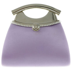 Mi Amore Clutch-Purse Purple/Silver-Tone