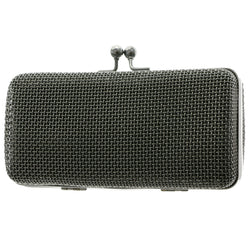 Mi Amore Dual Strap Clutch-Purse Black/Dark-Silver