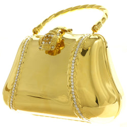 Mi Amore Clutch-Purse Gold