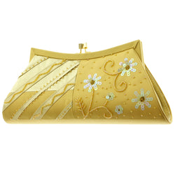 Mi Amore Flower Clutch-Purse Gold