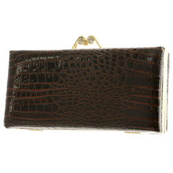 Mi Amore Clutch-Purse Brown/Gold-Tone