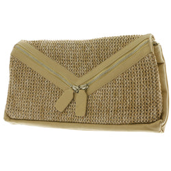 Mi Amore Clutch-Purse Tan/Silver-Tone
