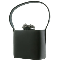 Mi Amore Flower Fashion-Handbag Black/Dark-Silver