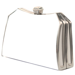 Mi Amore Clutch-Purse White/Silver-Tone