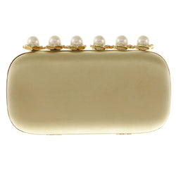 Mi Amore Dual Strap Clutch-Purse Gold