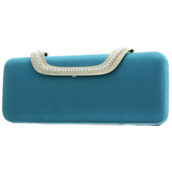 Mi Amore Clutch-Purse Blue/Silver-Tone