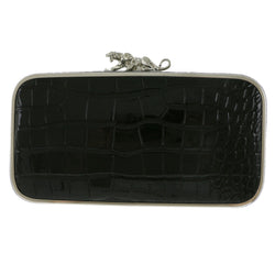 Mi Amore Panther Clutch-Purse Black/Silver-Tone