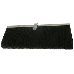 Mi Amore Clutch-Purse Black/Silver-Tone