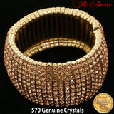 Mi Amore Sparkling Crystal Stretch-Bracelet Rose-Gold  1 Size Fits All