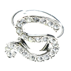 Mi Amore Initial S Adjustable-Ring Silver-Tone Size: Adjustable