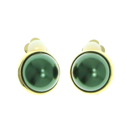 Mi Amore Clip-On-Earrings Gold-Tone/Green