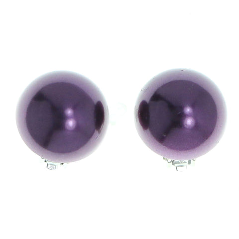 Mi Amore Clip-On-Earrings Purple