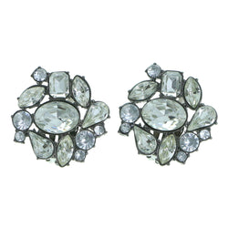 Mi Amore Clip-On-Earrings Gray