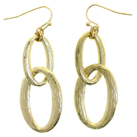 Mi Amore Interlocking dangles Drop-Dangle-Earrings Gold-Tone