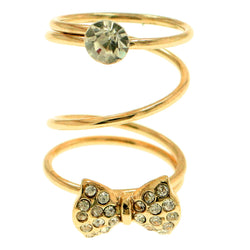 Mi Amore Bow Sized-Ring Gold-Tone Size 8.00