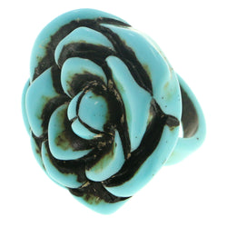 Mi Amore Flower Sized-Ring Blue Size 9.00