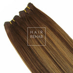 "LUXE CLIP-IN EXTENSIONS 20"" (180GMS) - ROOTED BRONZE"