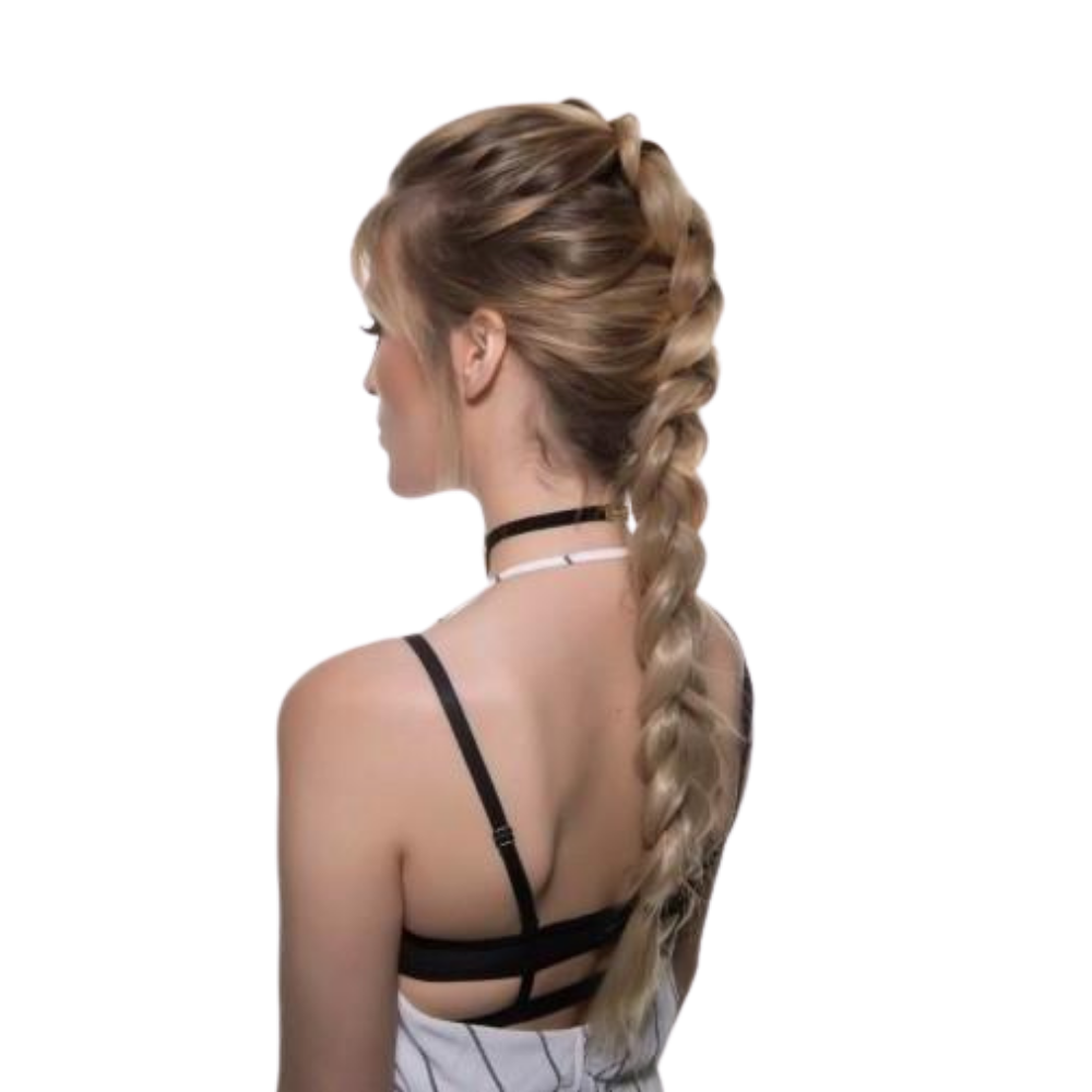 Clip-in Plait - Burgundy