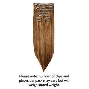 "LUXE CLIP-IN EXTENSIONS 20"" (180GMS) - SUPERMODEL STYLE"