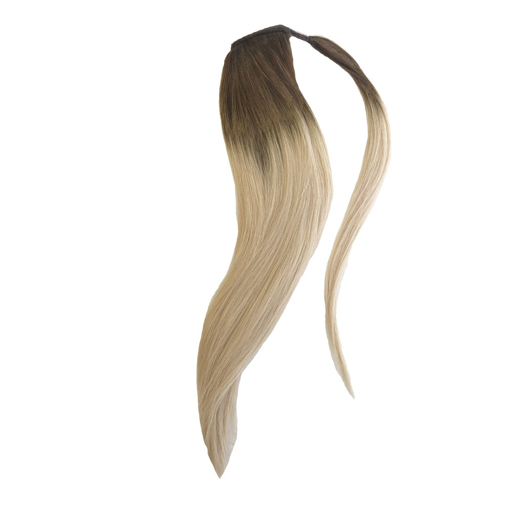"Luxe Wrap Ponytail 20"" - Rooted Blonde AF"
