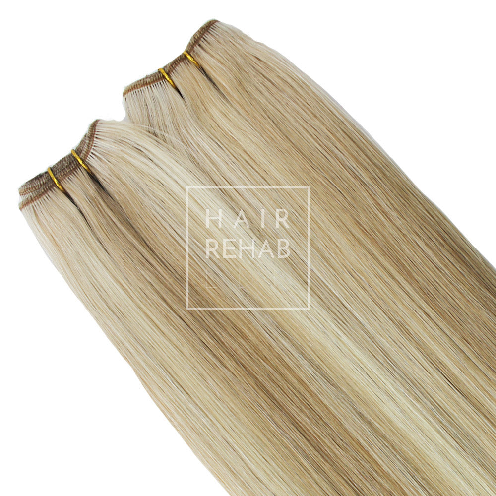 "ORIGINAL CLIP-IN EXTENSIONS 18"" (130 GMS) - COACHELLA BLONDE"