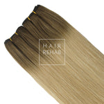 "LUXE CLIP-IN EXTENSIONS 20"" (180GMS) - ROOTED DIRTY BLONDE"