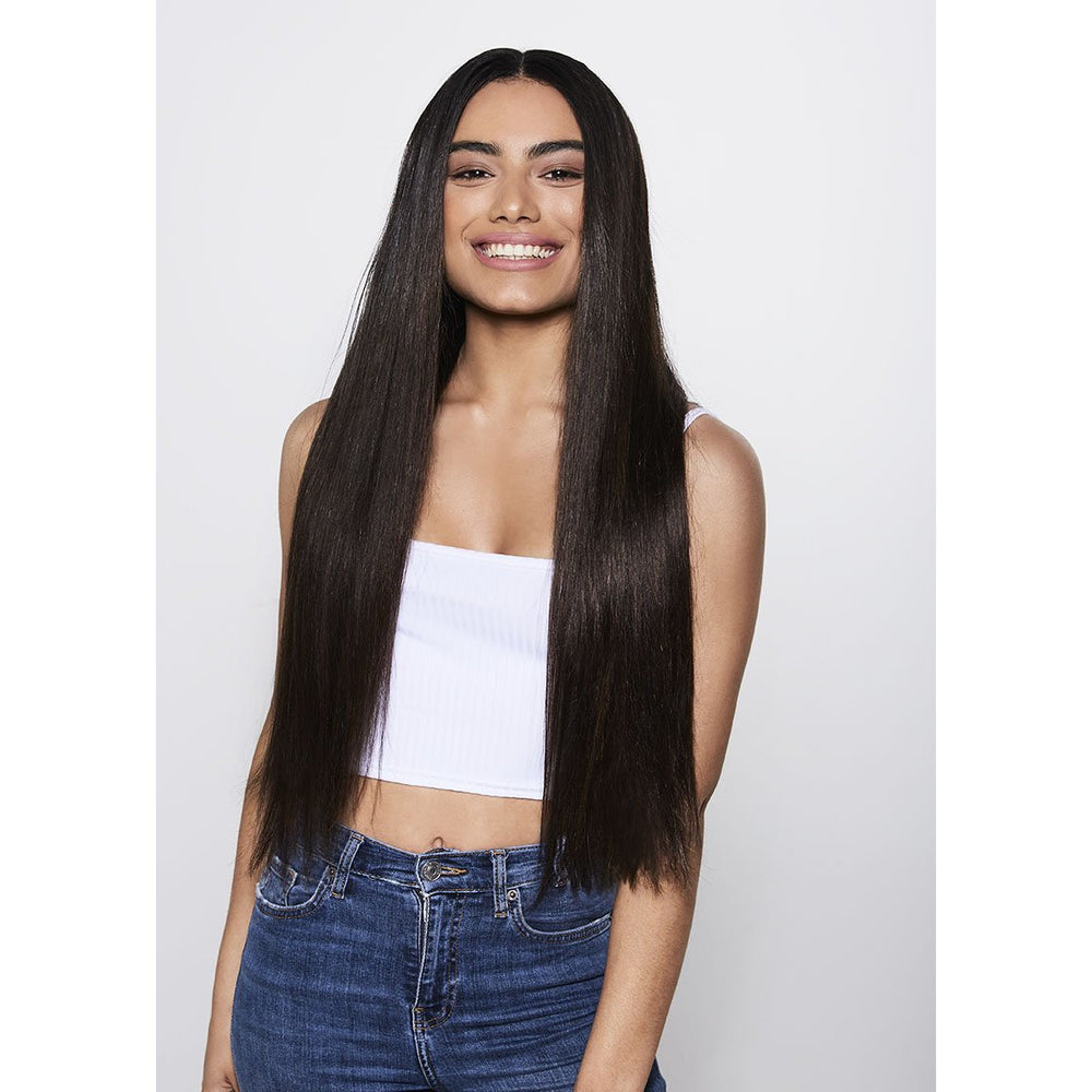 "ULTIMATE CLIP-IN EXTENSIONS 24"" (280GMS) - ROOTED METALLIC BRONDE"