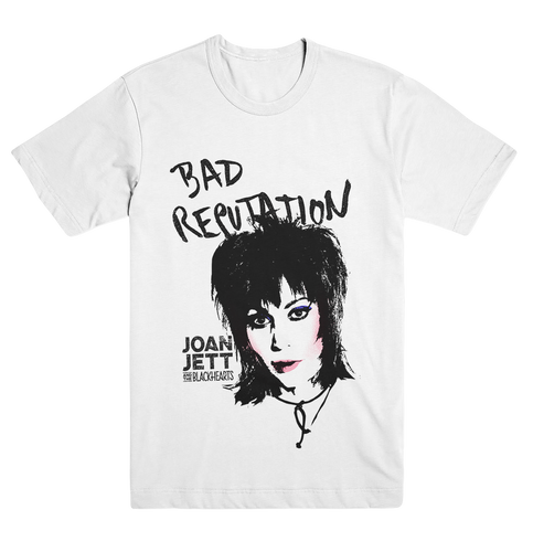 Joan Jett Bad Reputation White T Shirts