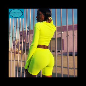 Neon Crop Top/Shorts Set - essential.merch