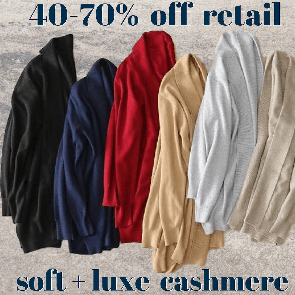 Open Cardigan Pure Cashmere Sweater - essential.merch